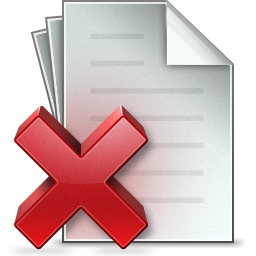 Document Delete Icon PNG images