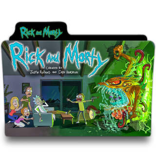 Rick And Morty Abstract Folder Icon PNG images