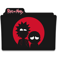 Rick And Morty Black Folder Icon PNG images
