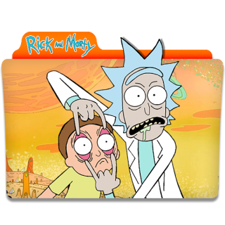 Rick And Morty Orange Folder Icon PNG images