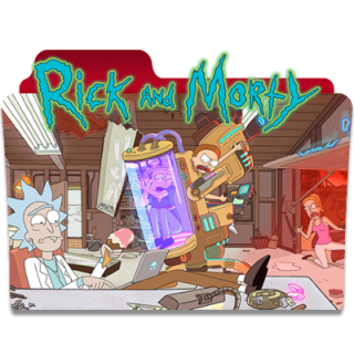 Rick And Morty Red Folder Icon PNG images