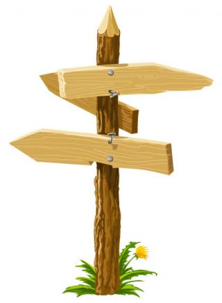 Wooden Road Direction Icon PNG images
