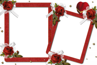 Romantic Floral Photo Frame Png PNG images