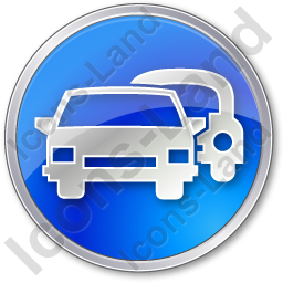 Car Rental Service Circle Blue Icon, PNG/ICO Icons, 256x256, 128x128 PNG images
