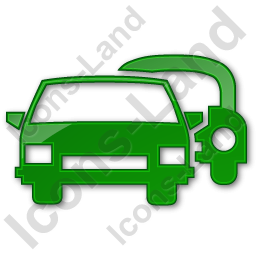 Car Rental Service Plain Green Icon, PNG/ICO Icons, 256x256, 128x128 PNG images