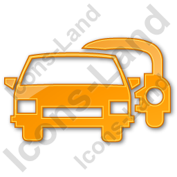Car Rental Service Plain Orange Icon, PNG/ICO Icons, 256x256, 128x128 PNG images