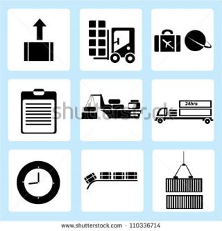 Shipping Icon Set, Logistic Stock Vector PNG images