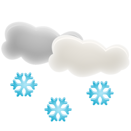 Cloud With Snowflake Icon PNG images