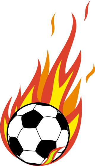 Flaming Soccer Ball Png PNG images