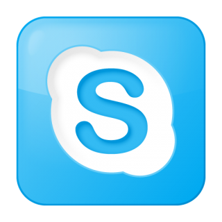 Social Skype Box Blue Icon | Social Bookmark Iconset | YOOtheme PNG images