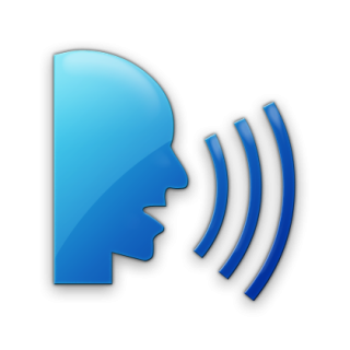 Blue Speaking, Talking Png PNG images