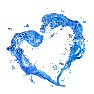 Water Heart Splash Png PNG images