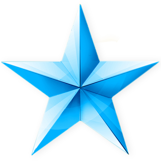 Blue Christmas Star Icon Png PNG images