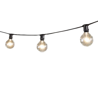 Mini String Lights With Globe Lamps Png PNG images