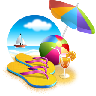 Beach, Umbrella, Sea, Cocktail, Ball, Summer Png PNG images