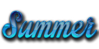 Blue Summer Text Png PNG images