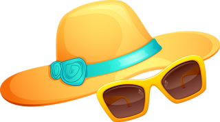 Hat And Sunglasses Summer Png PNG images