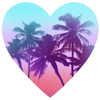 Palm, Tree, Heart, Summer Png PNG images