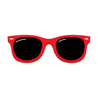 Red Sunglasses Clipart Pic PNG images