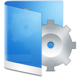 System Folder Blue Icon PNG images