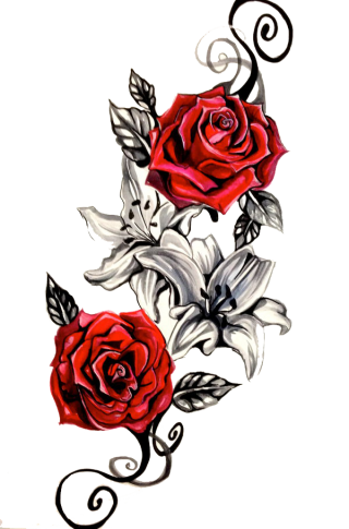 Tattoo Red Roses Png PNG images