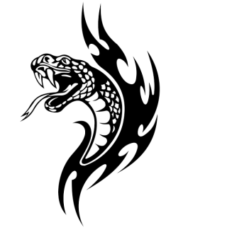 Tattoo Snake Black Png PNG images
