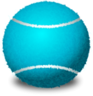 Blue Tennis Ball Racket PNG PNG images