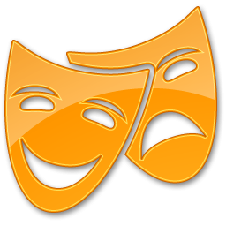 Theater Yellow Icon PNG images