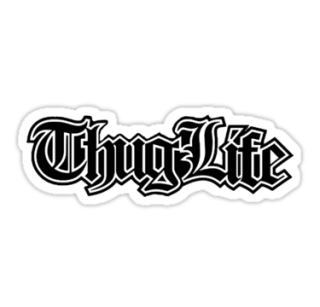 Thug Life 2. By RussellK99 PNG images