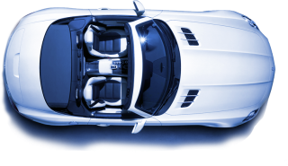 White Mercedes Benz Top Car Png PNG images