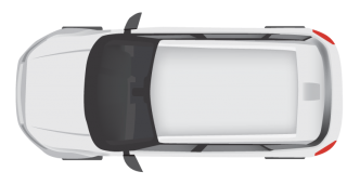 White Modern Car Top View PNG images