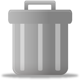 Download Free Vectors Trash Can Icon PNG images