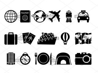 Basic Travel Icon Pack | Infographictemplatesminfographictemplates PNG images