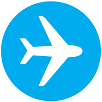 Blue, Air, Aviation, Flight, Mode, Plane, Travel Icon PNG images