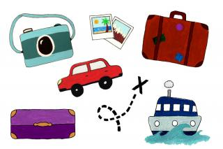 Car, Bag, Camera, Photos, Sea, Travel Transparent PNG images
