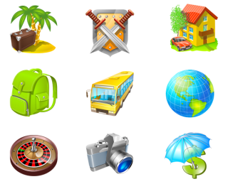 Travel Icon Set » Iconspackm PNG images