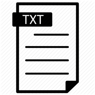 Free High-quality Txt File Icon PNG images