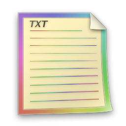 TXT File Icon Colorabo Icons SoftIconsm PNG images