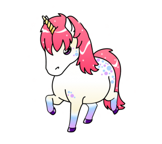 Chubby Unicorn Png PNG images