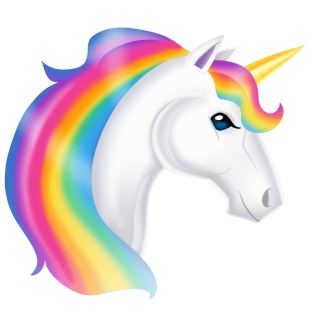 Rainbow Colors, The Horses Head, Unicorn PNG images
