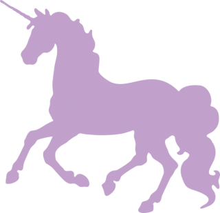 Unicorn Silhouette Head PNG images