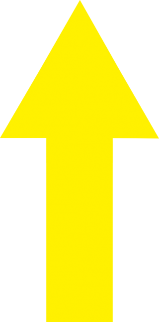 Yellow Up Arrow Png PNG images