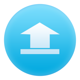 Blue, Up, File, Circle, Document, Upload Icon PNG images
