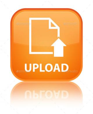 Orange, Square, Button, Document, File, Page, Up, Upload Icon PNG images