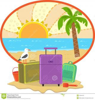 Lounger, Sea, Summer, Umbrella, Vacation Icon PNG images
