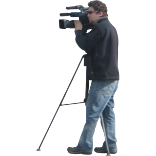Man And Video Camera Png PNG images