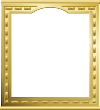 Gold-plated Video Frame Photo PNG images