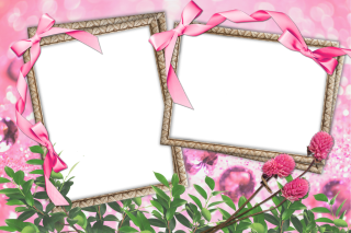 Video Frame Pattern Flowers And Table Images PNG images