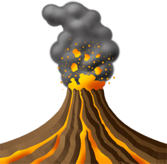 Explode, Explosion, Lava, Volcanic, Volcano Icon PNG images