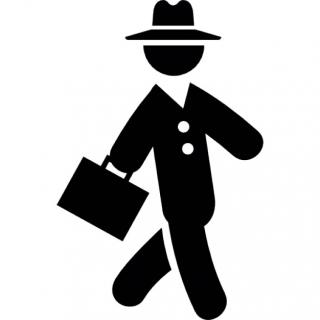 Businessman Walking Icon PNG images